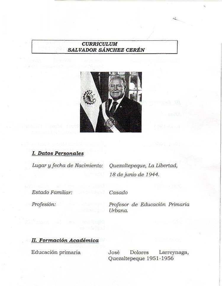 Conozca Cual Es El Curriculum Vitae Del Presidente De La Republica