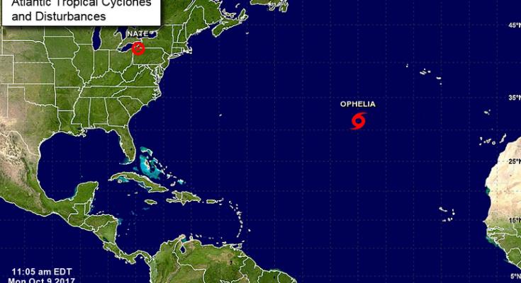 Tormenta tropical Ophelia podría convertirse en huracán