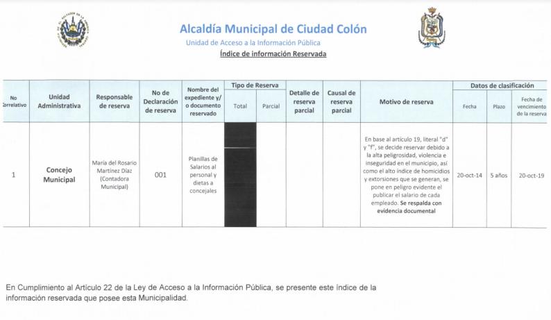 Alcalde de Colón ocultó información de su salario de $6,195 alegando inseguridad en el municipio 3