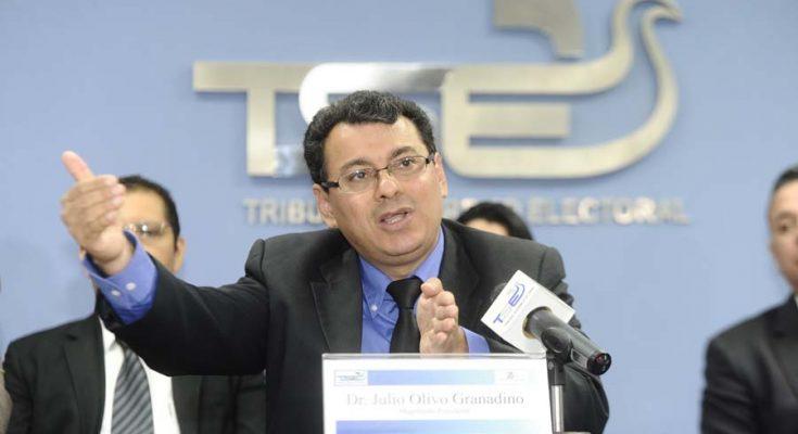 Julio Olivo reivindica imparcialidad del Tribunal Supremo Electoral